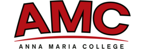 The logo for Anna Maria College which offers a top mpa program