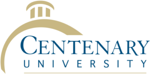 The logo for Centenary University which has a top mpa program