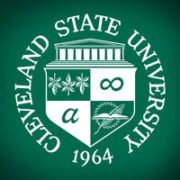 The logo for Cleveland State University which offers a great Bachelor of Arts in International Relations