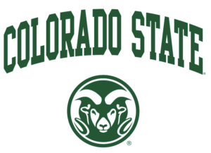 The logo for Colorado State University which offers a top food science  degree