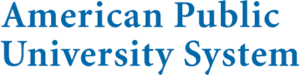 The logo for American Public University which placed 1st in our ranking for the top 10 associate degrees