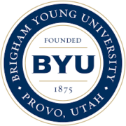 The logo fo Brigham Young University which offers a great parks and rec degree