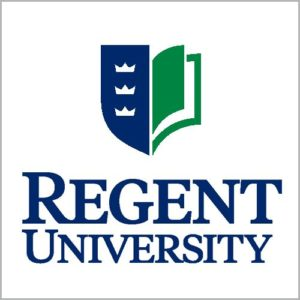 The logo for Regent University which placed 18th in our public policy masters program rankings