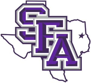 The logo for Stephen F. Austin State University which has one of the greatest accelerated mpa programs