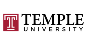 The logo for Temple University which offers one of the best best online masters in public policy
