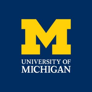 The logo for the University of Michigan which offers one of the best online mpp programs