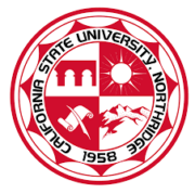 The logo for California State University which is 20th in our ranking of best park and recreation management degree