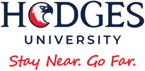 The logo for Hodges University which has one of the cheapest online mpa