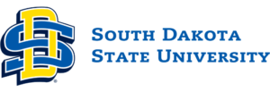 The logo for South Dakota State University which offers one of the best degrees for say at home mom