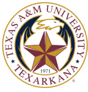 The logo for Texas A and M University which is one of our top-ranked schools for business