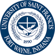 The logo for University of St. Francis which is a top liberal arts colleges with business majors