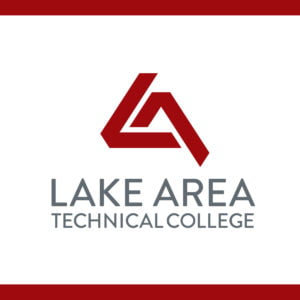 The logo for Lake Area Technical College which offers a great online agriculture associate's degree