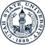 The logo for Utah State University which is a top school for history