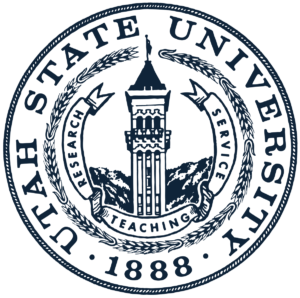 The logo for Utah State University  which is one of the top schools for associates degree in agriculture