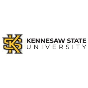 The logo for Kennesaw State University which ranked 3rd for Top 15 Accelerated Master of Science in Nursing Online Degrees