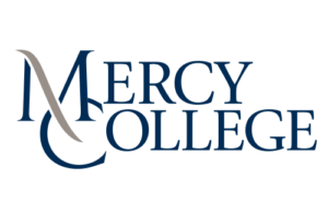 The logo for Mercy College which ranked 14th for best accelerated msn programs online