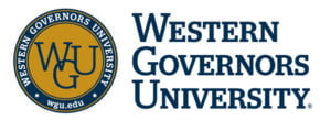 The logo for Western Governors University which ranked 6th for top shortest msn program