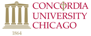 The logo for Concordia University Chicago which offers a great online PhD in leadership program