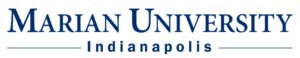The logo for Marian University which placed 25th in our ranking for Online Phd Organizational Behavior
