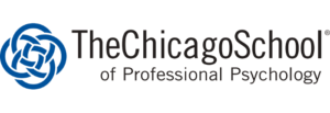 The logo for The Chicago School of Professional Psychology which placed 26th in our ranking for Online PhD Leadership