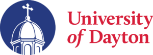 Logo for University of Dayton which is one of the best ranked schools for for Online EdD in Leadership for Organizations