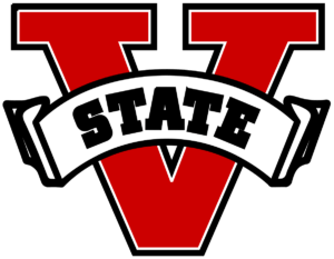 The logo for for Valdosta State University which placed number one in our ranking and offers the most affordable doctorate in organizational leadership program online