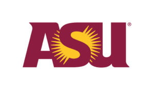 The logo for Arizona State University which is a great option if you are looking for top online technical colleges