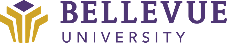The logo for Bellevue Universitywhich place 7th in our ranking of online tech schools
