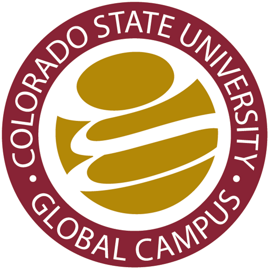 The logo for Colorado State University Global which placed 8th in a ranking of top online technical colleges