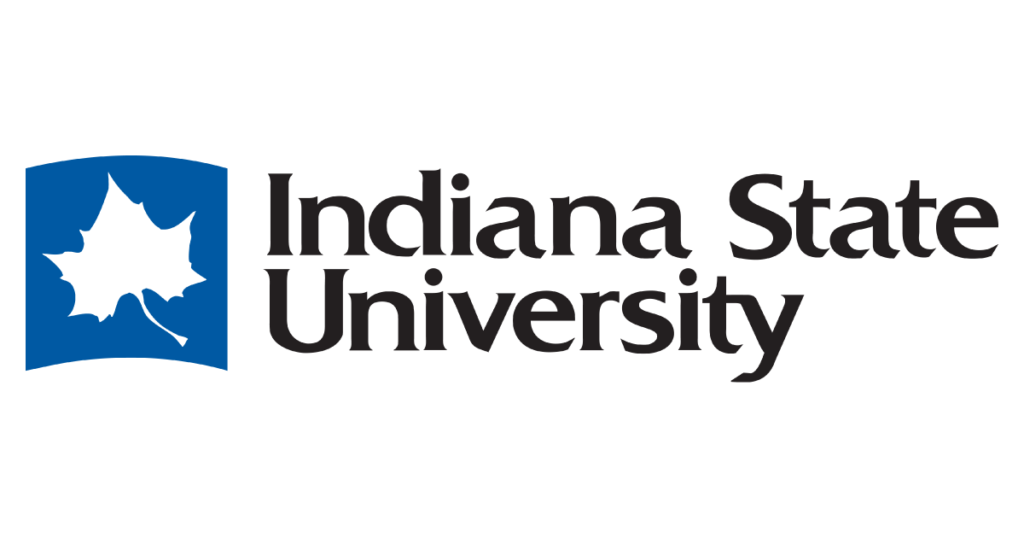 The logo for Indiana State University which is 11th in our ranking of best online technical colleges