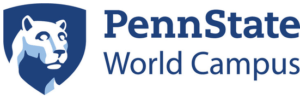 The logo for Penn State University which placed 25th in our ranking of top online technical degrees