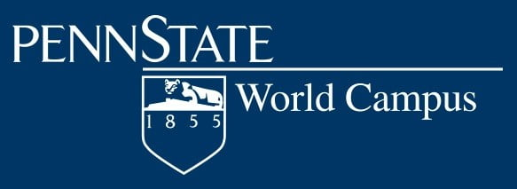Logo of Pennsylvania State University World Campus which ranks in our Top 30 Most Affordable Online Certificate Programs 2021