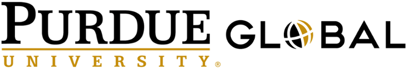 The logo for Purdue University Global which place 14th in our ranking of top technical online colleges