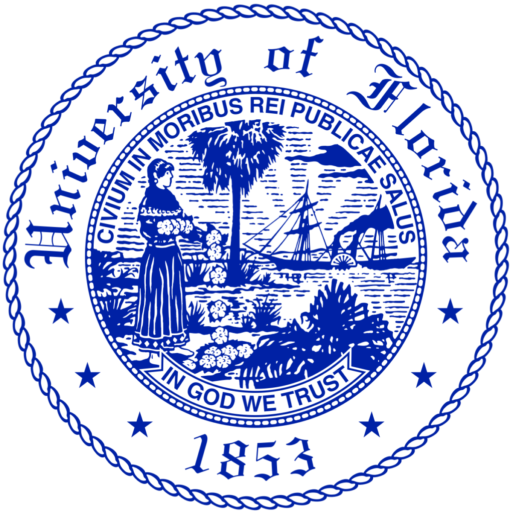 Logo of University of Florida which ranks among our Affordable Online Certificate Programs 2021