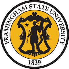 The logo for Framingham State University which has a great program for moms at home