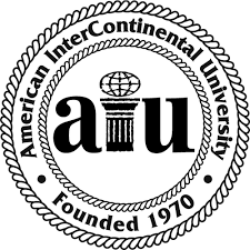The logo for AIU which has one of the top online associate degree programs